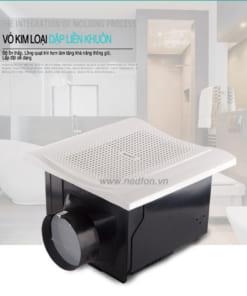 Quạt hút âm trần Nedfon BPT15-33H45 với thiết kế hiện đại và sang trọng