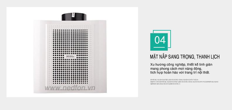 Quạt thông gió gắn trần Nedfon BPT10-13H20 thiết kế hiện đại